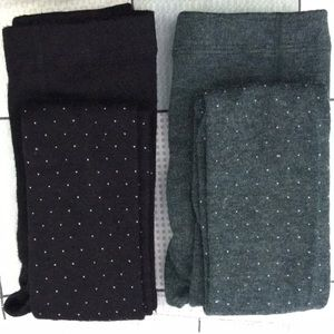 Two packs tights(black/green)